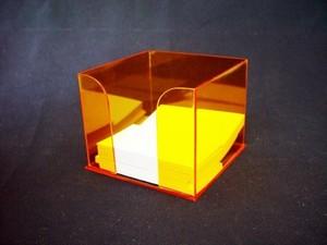Brinde de Cubo em Acrílico Diadema - Brinde de Porta Lápis em Acrílico