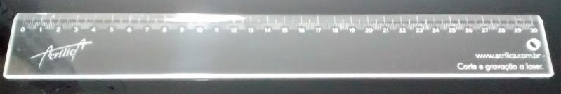 Brinde de Régua de Acrílico Sp Morumbi - Nome Recortado em Acrílico