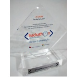 fábricas de troféus de acrílico personalizados Água Funda