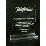 placas de homenagem de acrílico em Interlagos