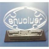 troféu de acrílico transparente para formatura preço Brooklin