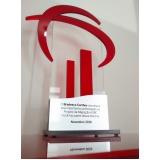 troféu de acrílico transparente para formatura M'Boi Mirim
