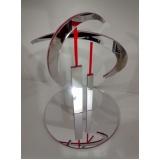 troféu em acrílico transparente Jabaquara