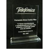 troféu para formatura em acrílico sob medida preço Morumbi
