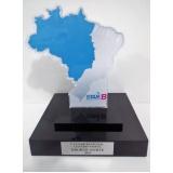 troféu para prêmio em acrílico sob medida preço na Vila Andrade