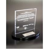 troféu personalizado em acrílico preço Moema