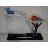 troféus em acrílico para personalizar Campo Belo