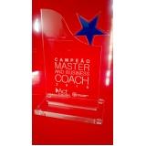 venda de troféu de acrílico transparente para formatura M'Boi Mirim