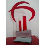 venda de troféu em acrílico para personalizar Sacomã