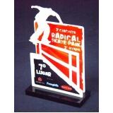 venda de troféu para eventos esportivos em acrílico Santo André