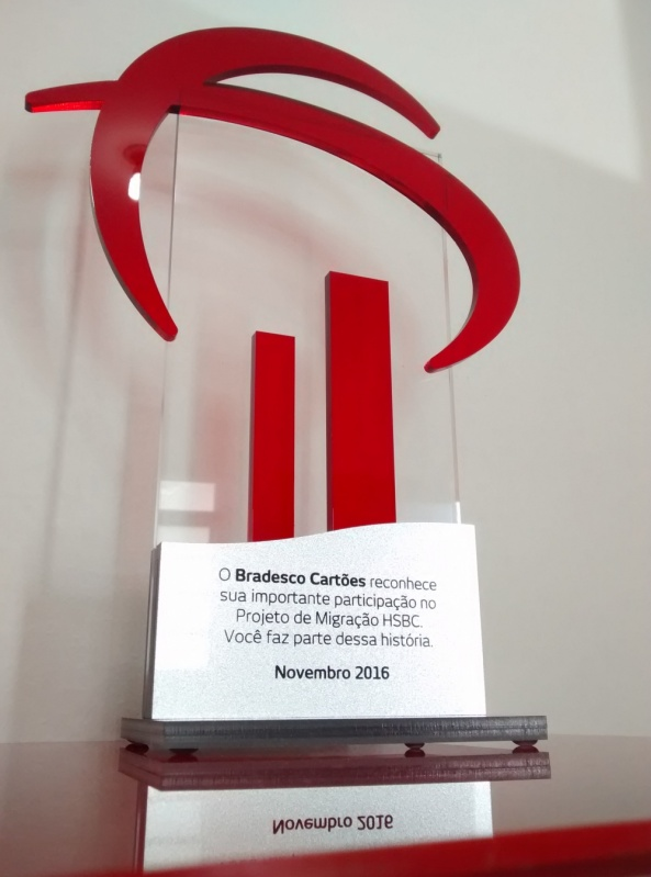 Troféu de Acrílico Transparente para Formatura Santo André - Troféu para Eventos Esportivos em Acrílico