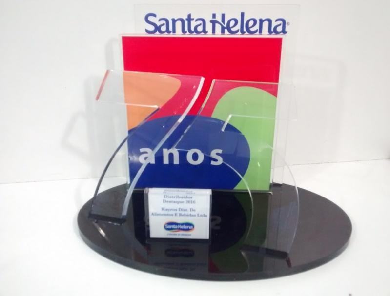 Troféu em Acrílico para Personalizar Santo Amaro - Troféu Esportivo Colorido em Acrílico