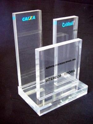 Troféu em Acrílico Transparente Preço São Caetano do Sul - Troféu Personalizado em Acrílico