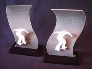 Troféu para Eventos Esportivos em Acrílico Saúde - Troféu de Acrílico para Eventos sob Medida