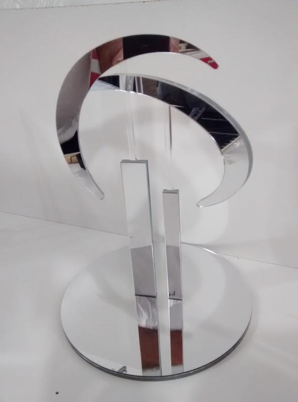 Troféu para Festa em Acrílico sob Medida Moema - Troféu em Acrílico Transparente