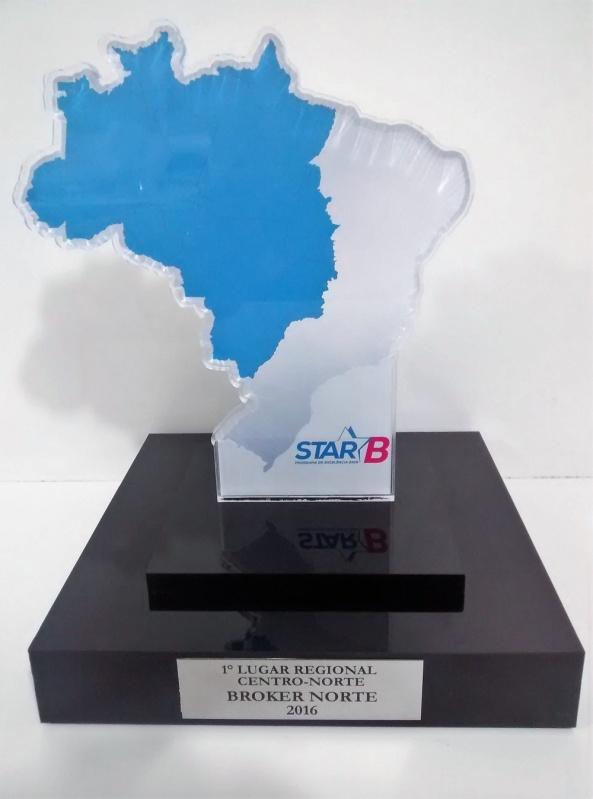 Troféu para Prêmio em Acrílico sob Medida Preço Sacomã - Troféu em Acrílico Transparente