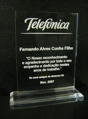 Troféus Corporativo de Acrílico Coloridos Jardim Paulistano - Troféu em Acrílico Transparente