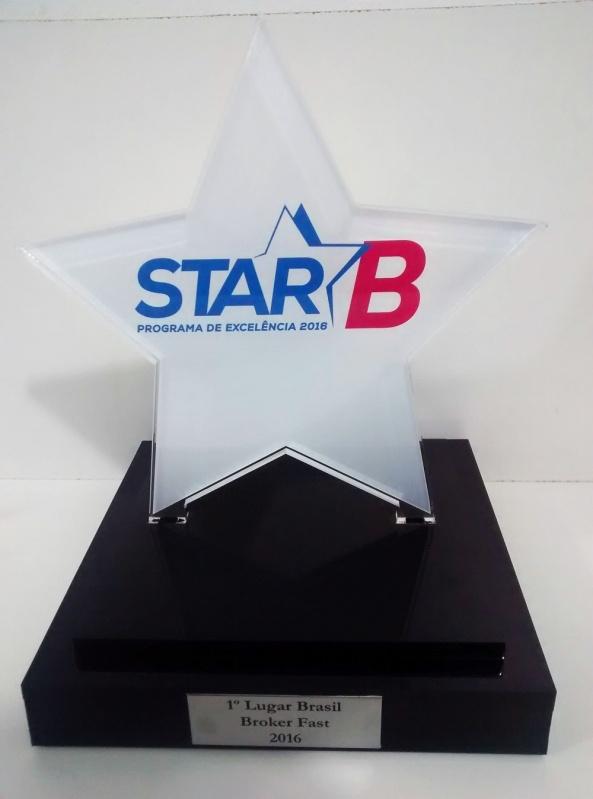 Venda de Troféu de Acrílico para Eventos sob Medida M'Boi Mirim - Troféu para Prêmio em Acrílico sob Medida