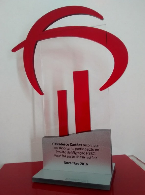 Venda de Troféu em Acrílico para Personalizar Ipiranga - Troféu para Prêmio em Acrílico sob Medida